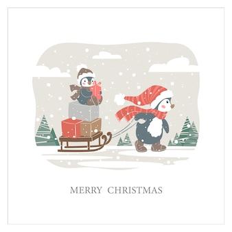 Weihnachtsnetter pinguin