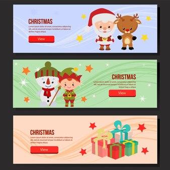 Weihnachtsnetzfahne gesetzte Weihnachtsmann-Elfe