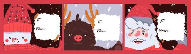 Weihnachtsnotizblock, notiz, tagebuch, postkartenmuster niedlichen aufkleber