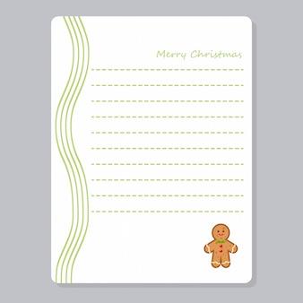 Weihnachtsnotizbuch-seitenschablone kardiert anmerkungen