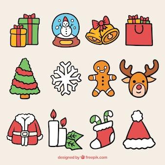 Weihnachtspaket von schönen elementen