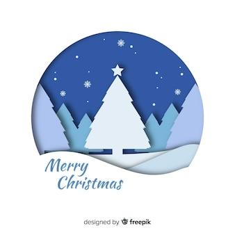 Weihnachtspapierbaum