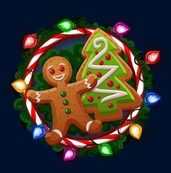 Weihnachtsplätzchen im rahmen
