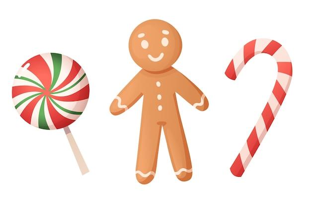 Weihnachtsplätzchen und süßigkeiten