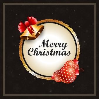 Weihnachtsplakat, das realistische elemente des weihnachten und einfache typografie hat