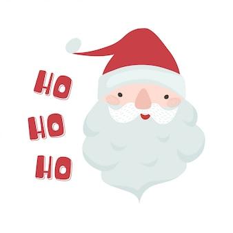 Weihnachtsplakat mit lustigem weihnachtsmann