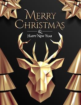 Weihnachtsplakat oder kartenschablone mit trendigen abstrakten flüssigen formen