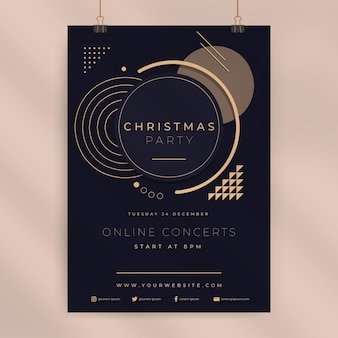 Weihnachtsplakatschablone