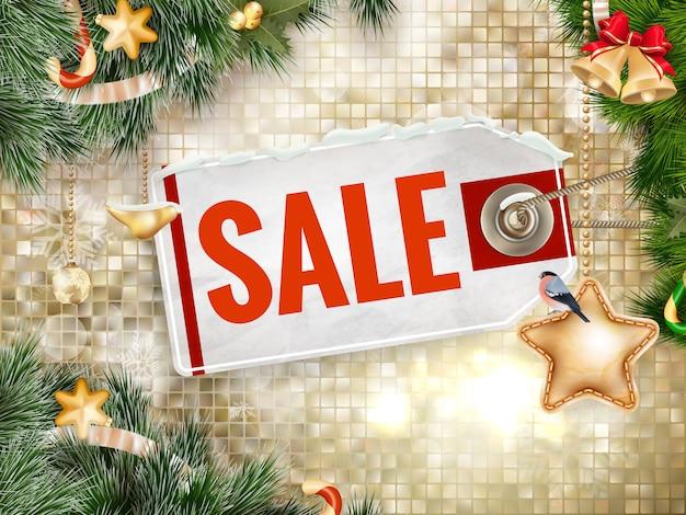 Weihnachtsplakatverkauf. typografie.