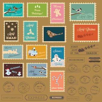Weihnachtspost briefmarken sammlung
