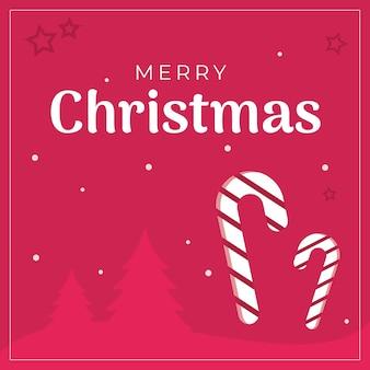Weihnachtspost mit zuckerstange