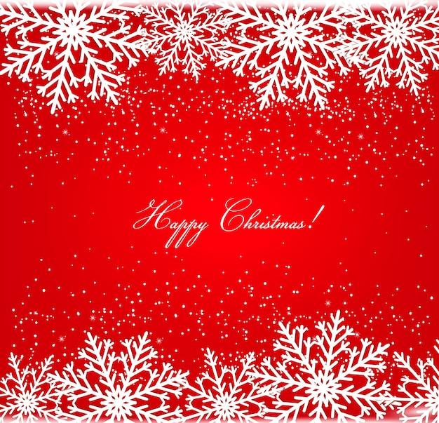 Weihnachtspostkarte mit schneeflocken.