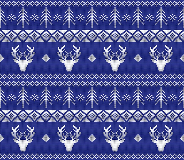 Weihnachtspullover nahtlose strickmuster
