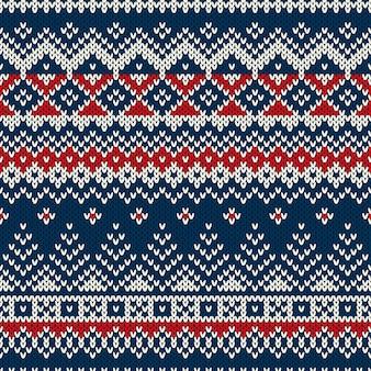 Weihnachtspullover. nahtloses muster mit weihnachtsbäumen