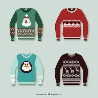 Weihnachtspullover sammlung