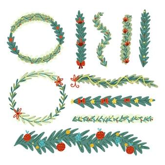 Weihnachtsränder und rahmen