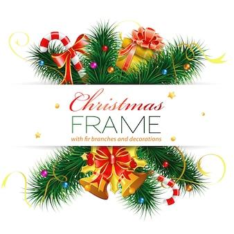 Weihnachtsrahmen mit dekoration