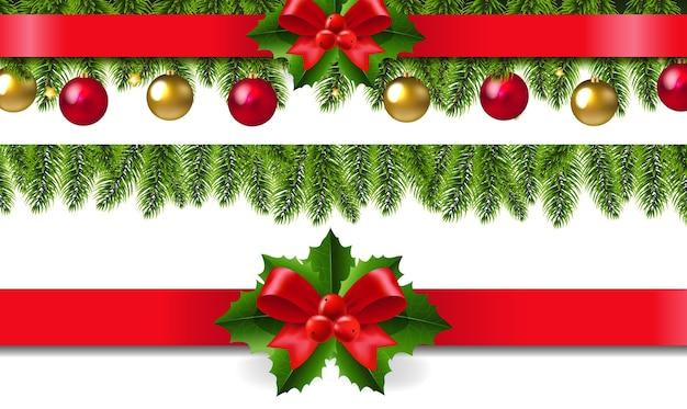 Weihnachtsrahmen mit holly berry set