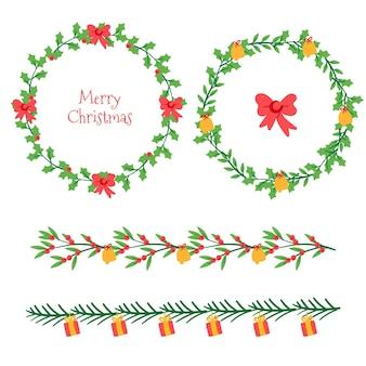 Weihnachtsrahmen und bordürenkollektion