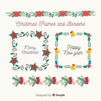Weihnachtsrahmen und grenze