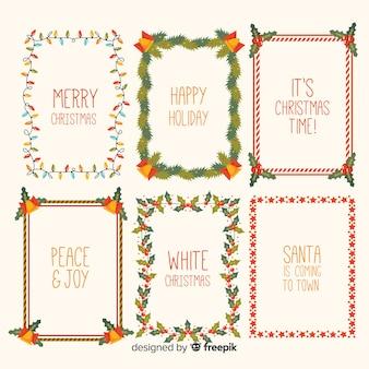 Weihnachtsrahmen und grenzen