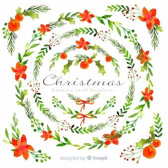 Weihnachtsrahmen und grenzsammlung