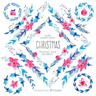 Weihnachtsrahmen und ränder packen