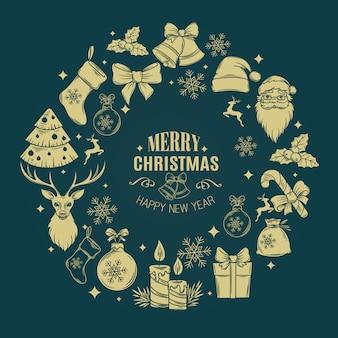 Weihnachtsrahmendekoration.