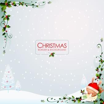 Weihnachtsrand und hintergrund