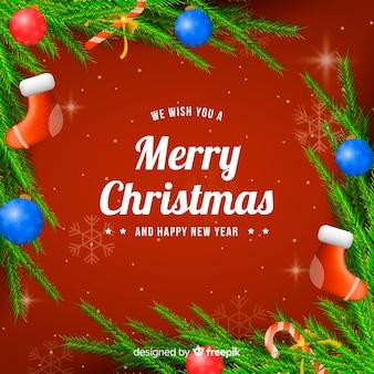 Weihnachtsrealer dekorationshintergrund