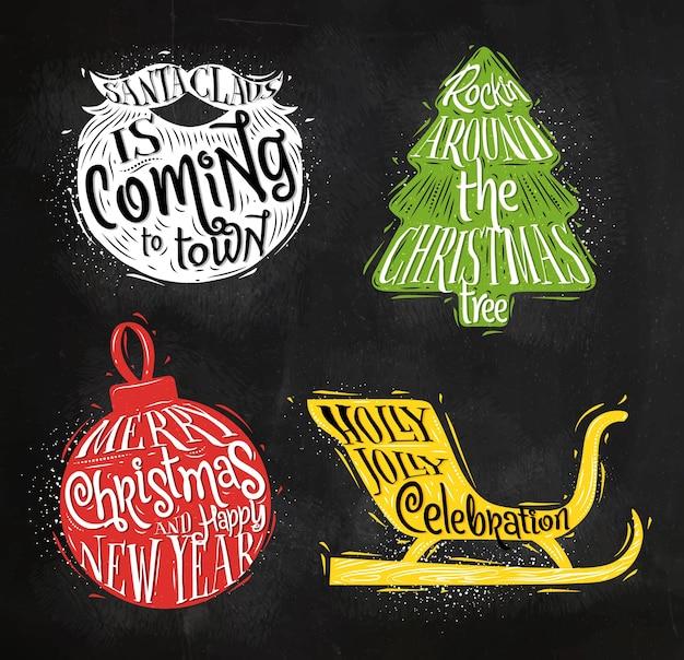 Weihnachtsschattenbilder-ballkreide