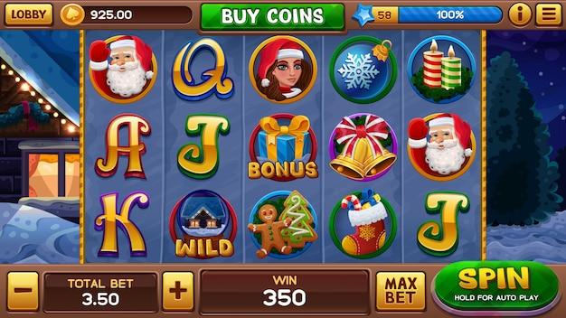 Weihnachtsschlitzspiel Premium Vektoren