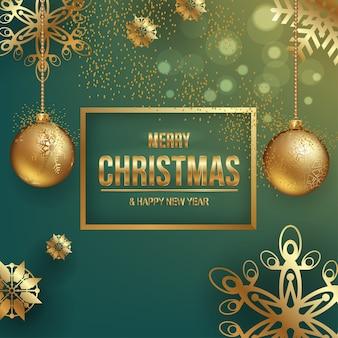 Weihnachtsschmuck auf blauem hintergrund