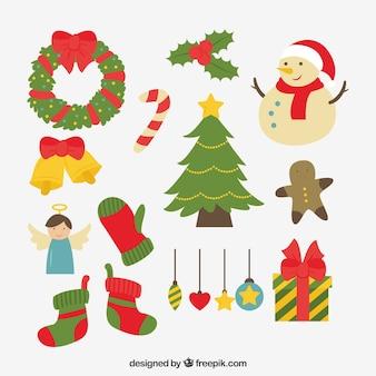 Weihnachtsschmuck mit lustigen stil