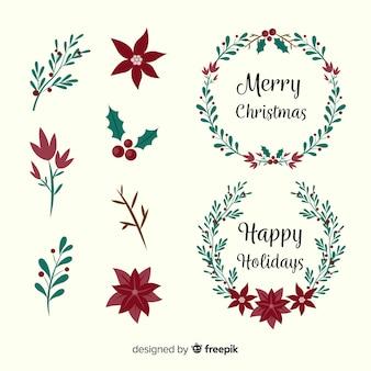 Weihnachtsschmuck und kränze