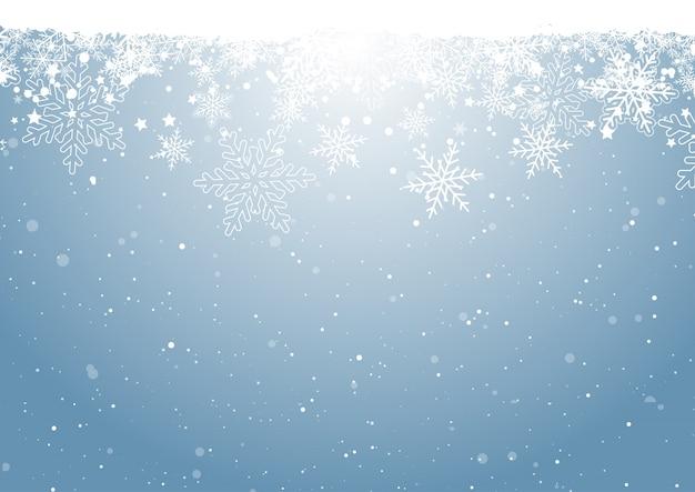 Weihnachtsschneeflocke-hintergrund