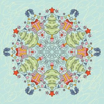 Weihnachtsschneeflocke. kaleidoskop