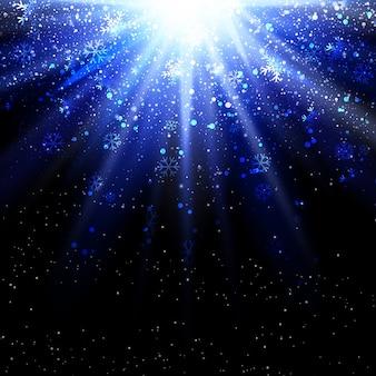 Weihnachtsschneeflocken auf sternexplosion