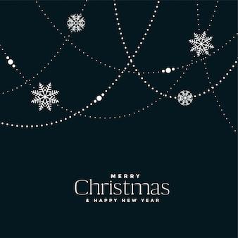 Weihnachtsschneeflocken dekorationshintergrunddesign