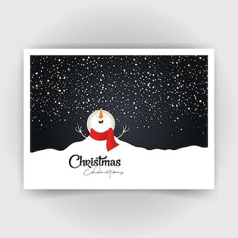 Weihnachtsschneemann-karte