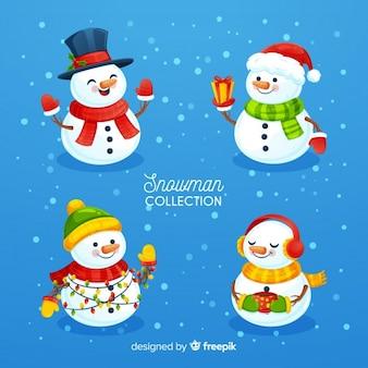 Weihnachtsschneemann-Sammlung