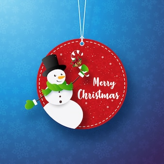 Weihnachtsschneemannkreis-markenfahne