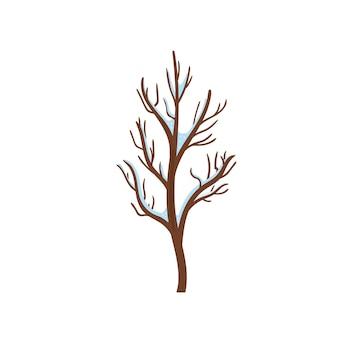 Weihnachtsset grüner baum neujahr und weihnachten traditionelle symbol winterbäume im schnee und sauber