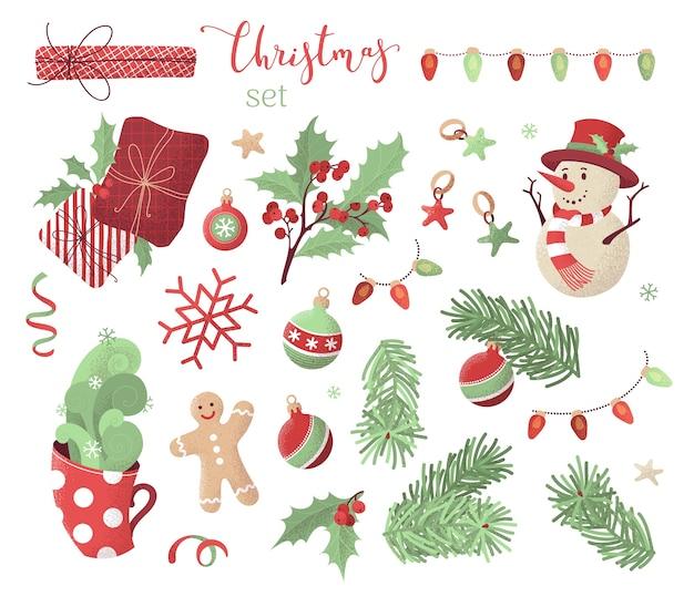 Weihnachtsset illustration