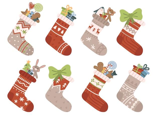 Weihnachtssocken gesetzt