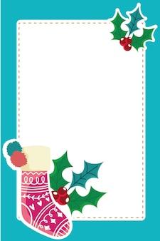 Weihnachtssockenstechpalmen-beerenkarte