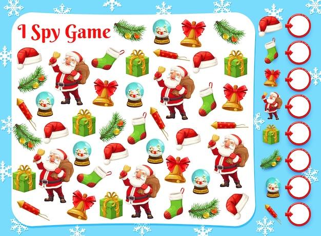 Weihnachtsspiel von ich spioniere, finde und zähle puzzle