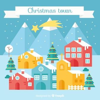 Weihnachtsstadt hintergrund