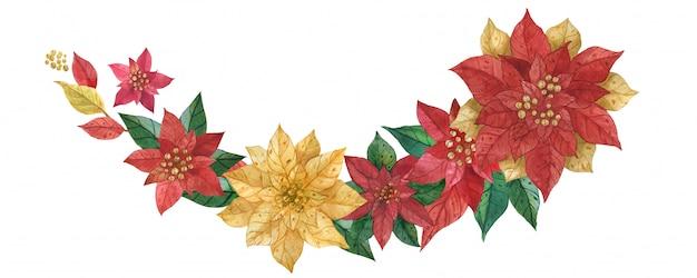 Weihnachtsstern girlande
