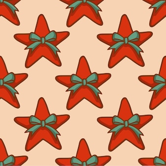 Weihnachtsstern-muster-hintergrund social media post weihnachtsdekoration vektor-illustration